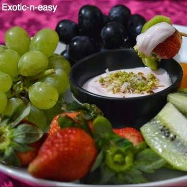 Photo of Fruit Platter with creamy dip by Meera Girdhar at BetterButter