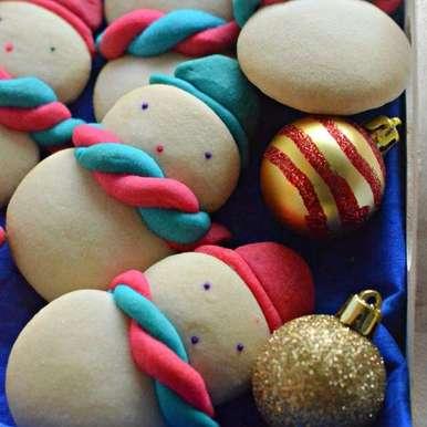 Photo of Eggless Snow men Cookies by Manjula Bharath Kumar at BetterButter