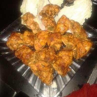 Photo of spinach in bbq sauce stuffed chicken tikka by Tejasvi Arneja at BetterButter