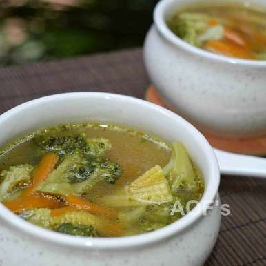 Photo of Broccoli Carrot and Baby Corn Soup by sweta biswal at BetterButter