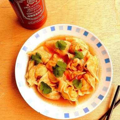 Photo of Chicken Wontons in Chilly Sauce by Priya Suresh at BetterButter