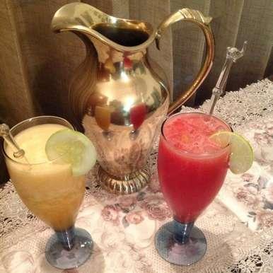 Photo of Melon Cocktails: Watermelon Sangria & Cucumber Musk Melon freeze by usha balagopal at BetterButter