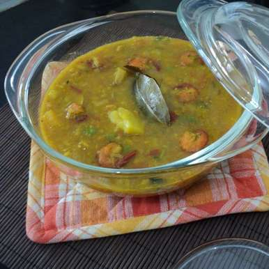 Photo of Chingudi Dalma ( Our very own Prawn Dhansak ) by sweta biswal at BetterButter