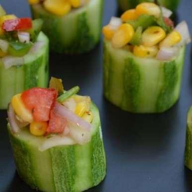Photo of Cucumber Corn Bites by Meera Girdhar at BetterButter