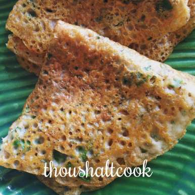 Photo of Sprouts and Barley Flour Pancakes / Bajre ka Pooda by Pallavi Purani at BetterButter