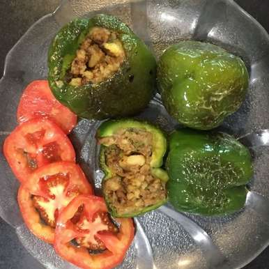Photo of Stuffed Shimala Mirch with potatoes ( Capsicum/ green bell peppers ) by bina bedi at BetterButter