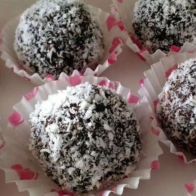 Photo of Chocolate Coconut Truffles by Vibha Bhutada at BetterButter