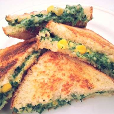 Photo of Creamy Corn & Spinach Sandwich by Monika S Suman at BetterButter