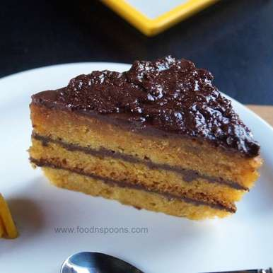 Photo of Eggless mango cake with Ganache frosting by Manisha Goyal at BetterButter