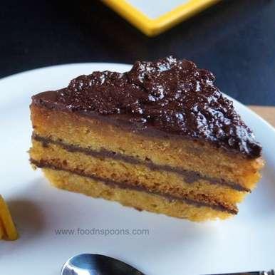Eggless mango cake with Ganache frosting, How to make Eggless mango cake with Ganache frosting