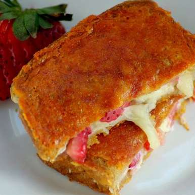 Photo of Inside Out Grilled Strawberry and cheese Sandwich by Meena Kumar at BetterButter