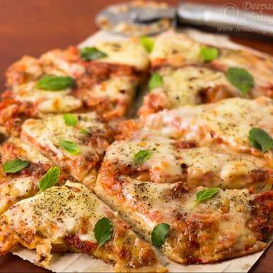 Photo of 100% Whole Wheat Margherita Pizza by Deepali Jain at BetterButter