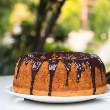 Photo of Eggless Vanilla Bundt Cake with Chocolate Glaze by Deepali Jain at BetterButter