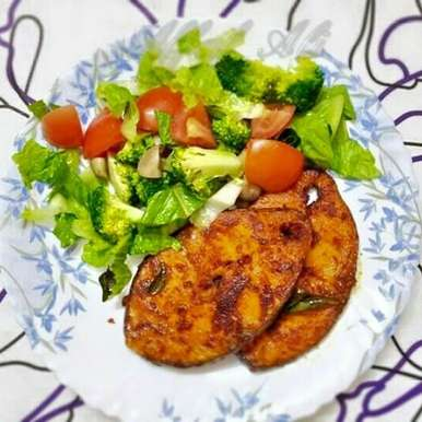 Photo of King Fish Fry Recipe: by Affaf Ali at BetterButter