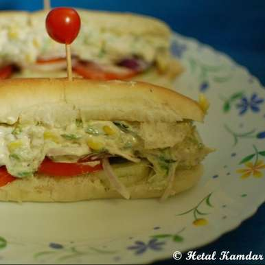 Photo of Veg Subway sandwich by Hetal Kamdar at BetterButter