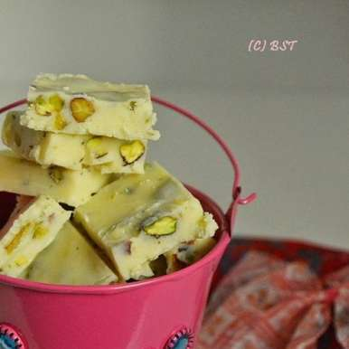 Photo of White Chocolate Pistachio Fudge by Rafeeda AR at BetterButter