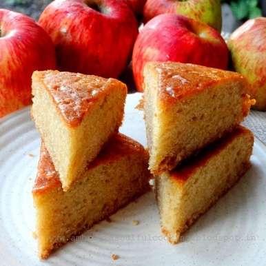 Photo of Egg less Apple Snack Cake by Namita Tiwari at BetterButter