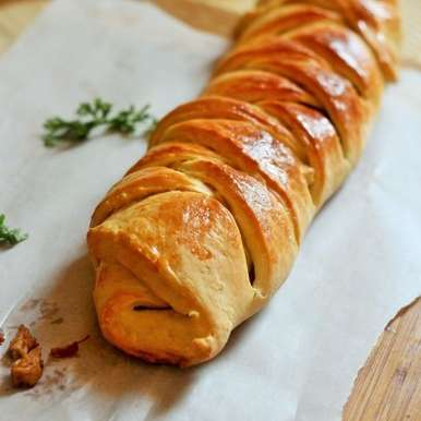 Photo of HOMEMADE CHICKEN BREAD ROLL-BRAIDED AND STUFFED CHICKEN BREAD by Fareeha Ahmed at BetterButter