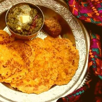 Photo of Makki ki roti with sarson ka saag by Bindiya Sharma at BetterButter
