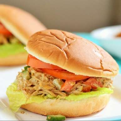 Photo of INDIAN SPICED SHREDDED CHICKEN SALAD SANDWICH RECIPE by Fareeha Ahmed at BetterButter
