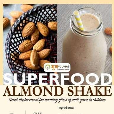 Photo of Easy Super Food - Almond Shake by Guna Organics at BetterButter
