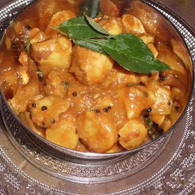 Photo of Chakkarkuru Mulakittathu – Jackfruit seeds in a spicy sauce by Rafeeda AR at BetterButter