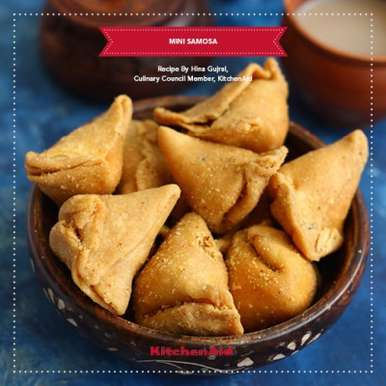 Photo of Moong dal mini Samosa by KitchenAid India at BetterButter