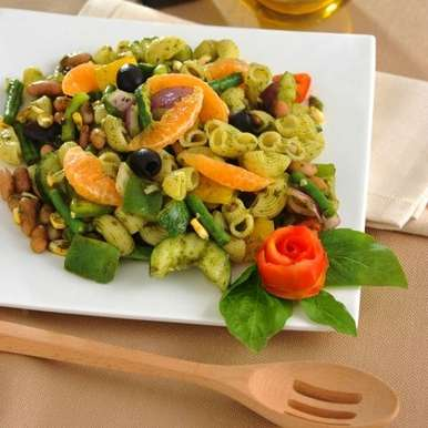 Photo of Three Bean Pasta Salad by Leonardo Food Products at BetterButter
