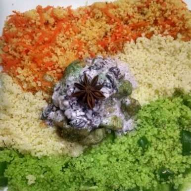 Photo of Tricolor couscous Salad by Kalpana Vinay at BetterButter