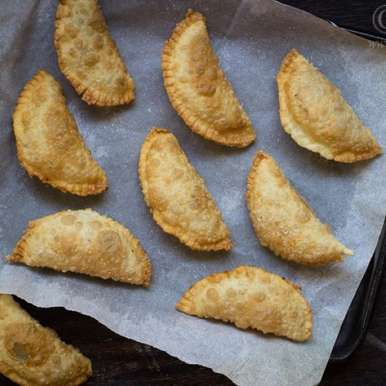Photo of Gujiya/ Karanji/ Coconut Filled Hand Pies by Deepali Jain at BetterButter