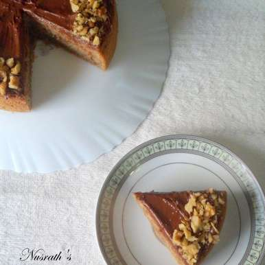 Photo of Sweet potato spiced cake with nutella frosting by Nusrath Jahan at BetterButter