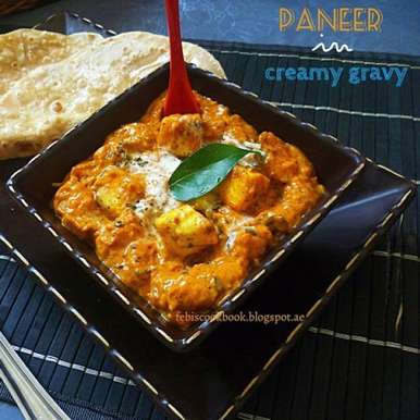 Photo of Paneer in creamy gravy by Febina Farook at BetterButter