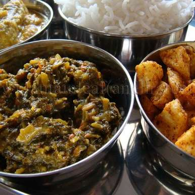 Photo of Totakura Pulusu- Amaranth Leaves Tangy Curry by Padma Rekha at BetterButter