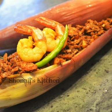 Photo of Mocha Chingri (Banana flower with prawn) by Shonali Debnath at BetterButter