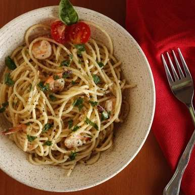 Photo of Spaghetti Butter Garlic Prawns by Anitha Nayak at BetterButter