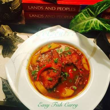 Easy Fish curry in tomato gravy, How to make Easy Fish curry in tomato gravy