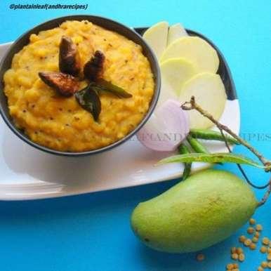 Photo of Mamidikaya Pappu (Raw mango with yellow lentils)  by Padma Rekha at BetterButter