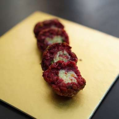 Photo of Cheese filled beetroot  balls by Kanwaljeet Chhabra at BetterButter