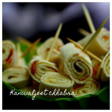 Photo of Jam rolls ( kids party recipe ) by Kanwaljeet Chhabra at BetterButter