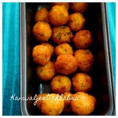 Photo of Parmesan cheese potato balls by Kanwaljeet Chhabra at BetterButter