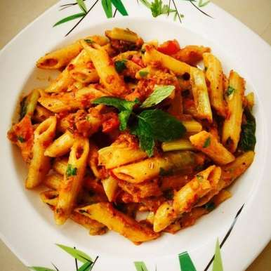 Photo of Pasta in Red Sauce by Aameena Ahmed at BetterButter