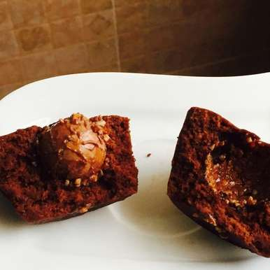 Photo of Cup Cake with a surprise (Made in a microwave) by Preethi Prasad at BetterButter