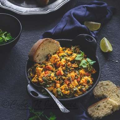 Photo of Paneer-Methi Bhurji by Farrukh Shadab at BetterButter