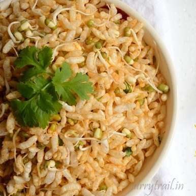 Photo of 2 minute spicy puffed rice with sprouted moong by Jyothi Rajesh at BetterButter