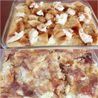 Photo of Cream Cheese Bread Pudding by Manini Badlani at BetterButter