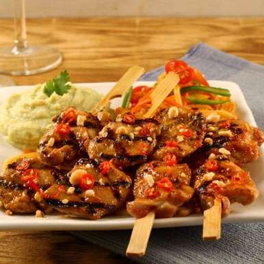 Photo of Kung Pao Chicken Skewers by shiro . at BetterButter