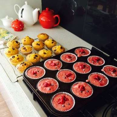 Photo of Eggless Fruity Muffins by Mehak Joshi at BetterButter