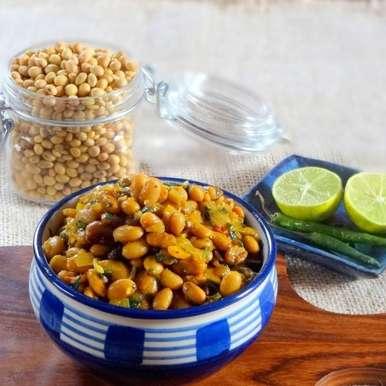 Photo of Curried Soya beans (vegan) by Namita Tiwari at BetterButter