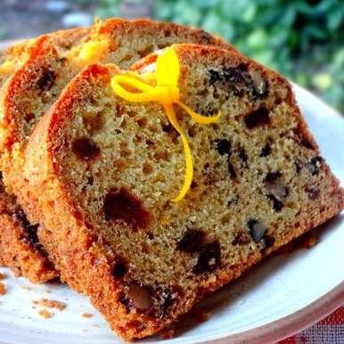 Photo of Eggless Orange Date Walnut Cake by Namita Tiwari at BetterButter