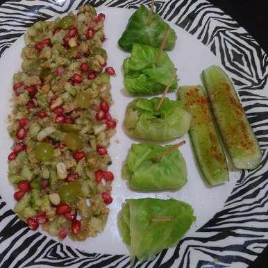 Photo of Stuffed cucumber salad by Purvi Modi at BetterButter